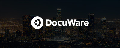 DocuWare logo dark background