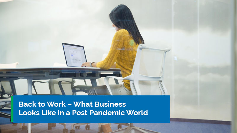 Back to Work - What business looks like in a post pandemic world banner
