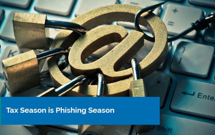 Tax season is phishing season banner