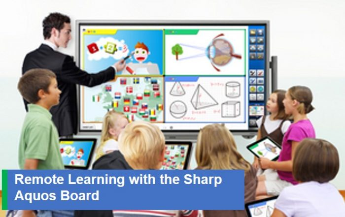 Remote Learning w Sharp Aquos Board
